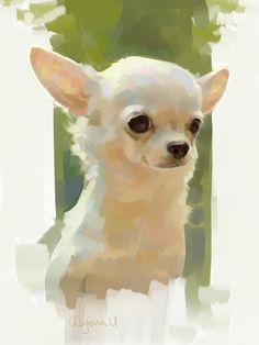 Sunny chihuahua, Alyona Usmanova on ArtStation at https://www.artstation.com/artwork/nDgWK