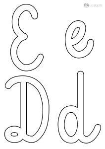 szablon liter E e D d