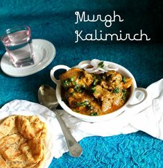 Murgh Kali Mirch, an easy to make dish with no tomatoes. Chicken in creamy black pepper sauce. Pepper Gravy, Indian Food Recipes, Ethnic Recipes, Vegetarian Recipes, Turkey Recipes, Stuffed Peppers, Chicken, Curry, Roots