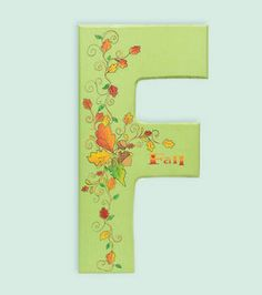 Painted Fall Letters: Decorative Paint: General Craft Projects: Shop | Joann.com