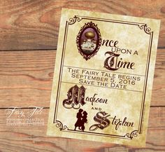 Fairy Tale Wedding Collection Aladdin Storybook Save The Date Postcard