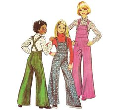 1970s Girls Overalls  Simplicity 6125 Vintage by ErikawithaK