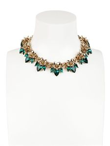 SCHIELD - FLOWER LUXE NECKLACE - LUISAVIAROMA - LUXURY SHOPPING WORLDWIDE SHIPPING - FLORENCE