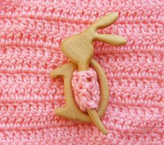 Wooden shawl pin, Shawl stick, Sweater clasp, Pullover pin, Scarf pin, Hair stick, Christmas stocking stuffers, Wooden rabbit brooch, Eco