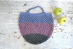 Eco market bag crochet grocery bag crochet net bag reusable