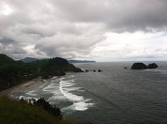 This is my favorite spot on earth, the beach next to Cape Meares Lighthouse!