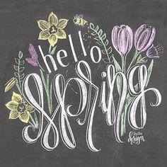 Hello Spring Chalkboard Print by SheSheDesign on Etsy Blackboard Art, Chalkboard Doodles, Chalkboard Writing, Kitchen Chalkboard, Chalkboard Drawings, Chalkboard Lettering, Chalkboard Designs, Chalk Drawings, Chalkboard Ideas
