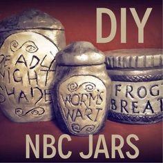 Sally's jars: Fashion Blog http://www.instructables.com/id/DIY-Nightmare-Before-Christmas-Jars/