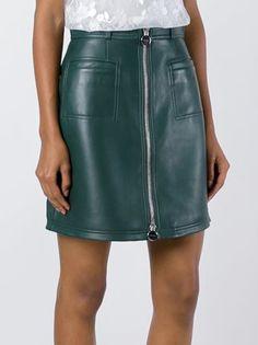 Carven zipped a-line skirt