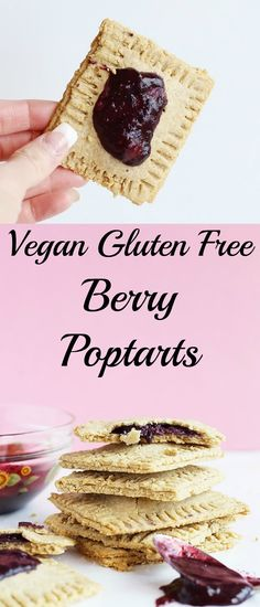 These Vegan Gluten Free Berry Pop Tarts are super simple to make! They are refined sugar free and the perfect grab and go breakfast! / TwoRaspberries.com