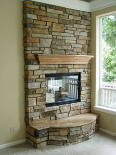 Image detail for -Stone Veneer Fireplace Face (Baker Masonry LLC 503 539 Masonry Veneer, Stone Veneer Fireplace, Candles In Fireplace, Fireplace Tv Stand, Fireplace Hearth, Fireplace Ideas, Fireplaces, Mantle Ideas, Beautiful Houses Interior