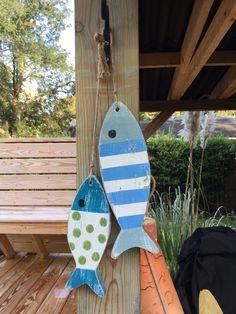 Fish Decor Nursery Coastal and Beach Decor Chunky Fish by justbeachyshop on Etsy