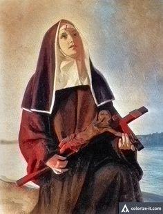 Santa Rita de Casia Santa Rita De Cascia, St Rita Of Cascia, Sta Rita, Sainte Rita, Novena Prayers, Holy Rosary, Religious Images, Santa Lucia, Catholic Saints