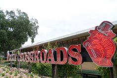 Dixie Crossroads - Titusville, FL - corn fritters and blackened florida pompano; Florida Girl, Old Florida, Florida Living, Central Florida, Titusville Florida, Restaurants In Orlando, Best Seafood Restaurant, Neon Rainbow, Oviedo