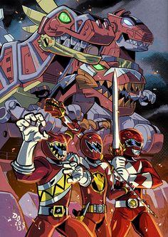 Dinosaur Kings, Power Rangers artwork by WereMole. Power Rangers Poster, Power Rangers Fan Art, Power Rangers Dino, Mighty Morphin Power Rangers, Dino Rangers, Desenho Do Power Rangers, Power Rangers Megazord, Power Rengers, Green Ranger