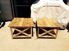wooden pallet mini tables