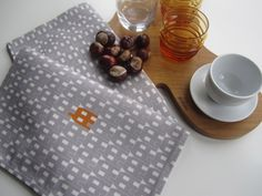 Grey Paperhouse Tea Towel