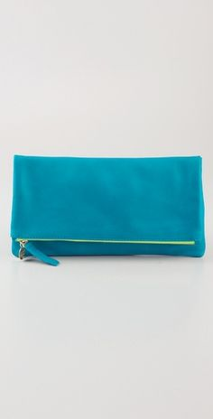 Love the color! ...There's something about a fold over clutch I like (probably that I can cram extra junk in it).