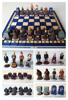 Doctor Who chess. I can't play chess but you know, I'll learn.