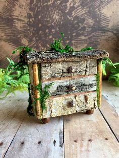 Miniature fairy dresser Fae chest of drawers woodland