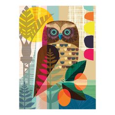 Graphic Owl Puzzle, Animal Puzzle | WerkShoppe Animal Puzzle, Wall Art For Sale, Detail Art, Global Art, Community Art, Art Education, Graphic Art, Animal Graphic, 1000 Piece Jigsaw Puzzles