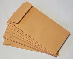 "80 GUMMED KRAFT COIN JEWELRY SMALL PARTS SMALL ENVELOPE 3-1//2/"" x 6-1//2/"""