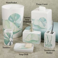 This I Bought For The Downstairs Bathroom   La Mer Ceramic Coastal Bath  Accessories