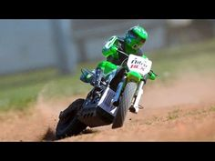 Wow, really want one! 1/4 scale RC controlled electric dirt bikes!