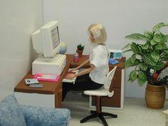 Barbie at work