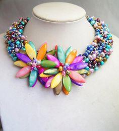 choker necklaceBeaded JewelryPearl por audreyjewelry en Etsy, $46.50