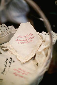 embroidered handkercheif personal wedding brides of adelaide magazine