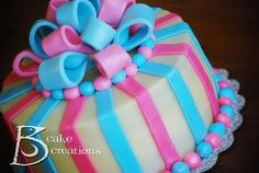 gender reveal cakes | Even these amazing cake ball stuffed cookies from Sugar Derby could ...