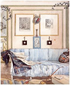 Dessins de Carl Larsson Carl Larsson, Scandinavian Christmas, Scandinavian Style, Drawing Scenery, Swedish Cottage, Cosy Corner, Street Art, Art Thou, Book Images