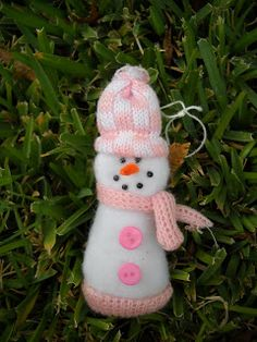 Craft Goodies: Day 20- Glove turned Snowman!