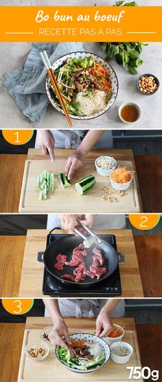 boeuf bun bo au Bo bun au boeuf Bo bun au boeufYou can find Fleisch rezepte and more on our website Easy Chinese Recipes, Asian Recipes, Healthy Recipes, Batch Cooking, Cooking Recipes, Soup Recipes, Kids Meals, Easy Meals, Bo Bun