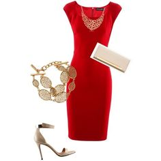 accessories with red dress