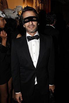Marc Jacobs en una fiesta de antifaces.