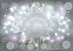 Christmas greetings card shiny starry lights image vector background