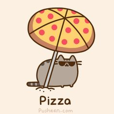 This is PERFECT because we can hold and eat the pizza umbrella at same time!!!! :DDD