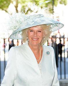 Camilla, The Duchess of Cornwall. Aquamarine. June 4, 2013