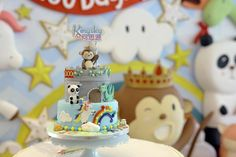 You have to see this cake at a fairy tale baby shower party! See more party ideas at CatchMyParty.com!