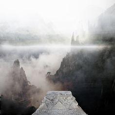 Avalon through the mist.