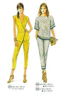 Modezeichnung fürs Nähen