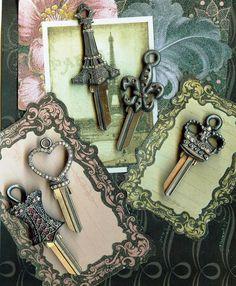 couture keys by keys to my castle will make your keys sparkle like the city of lights everyday...#keystomycastle