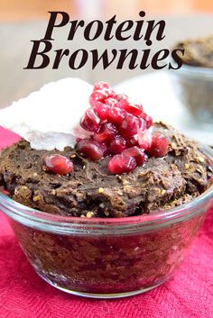 Super Healthy Single Serve Protein Brownies - so yummy and just too easy not to try!