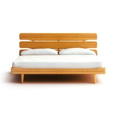 The open plank headboard and cantilevered base with tapered legs give the Greenington Currant Platform Bed its appeal. This profoundly simple bed frame. Bamboo Furniture, Bedroom Furniture, Modern Furniture, Furniture Design, Wooden Bedroom, Modern Platform Bed, Queen Platform Bed, California King Platform Bed, Simple Bed Frame