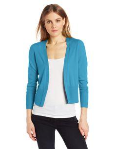 Colour Works Women's 100% Merino Wool Open Cardigan Sweater