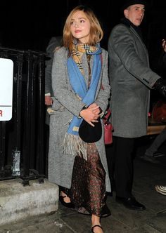 Jenna Coleman leaving the 34 Restaurant in London, England - 20 March 2018