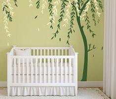 Baby Boy Nursery Ideas Stick on Wall Art Tree by DecalIsland