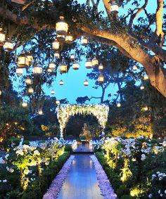 Ideas For Garden Wedding Ceremony Ideas Romantic Aisle Decorations Wedding Entrance, Wedding Ceremony, Wedding Venues, Wedding Walkway, Outdoor Ceremony, Outdoor Night Wedding, Party Outdoor, Wedding Gazebo, Marquee Wedding